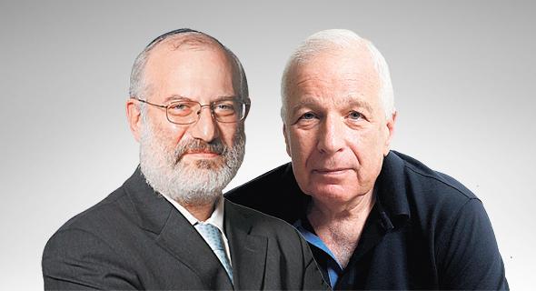 מימין שמואל סייד ו אדוארדו אלשטיין, צילום: עמית שעל, אוראל כהן