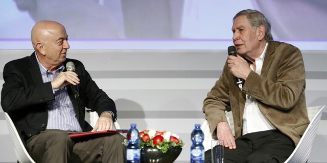 ראש המוסד לשעבר בשיחה עם יואל אסתרון , צילום: עמית שעל