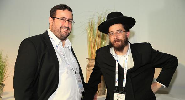 מימין: משה פרידמן ואברהמי וינגוט, צילום: אוראל כהן