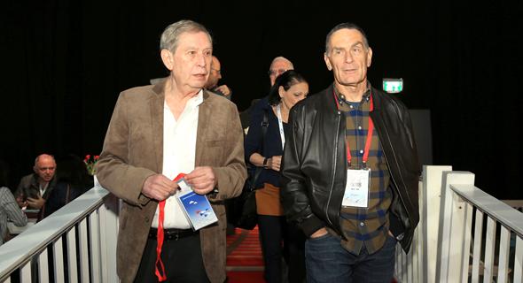 מימין: אבי גוט ותמיר פרדו, צילום: אוראל כהן