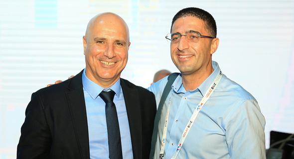 מימין: משה ימין ואלי לוי, צילום: אוראל כהן