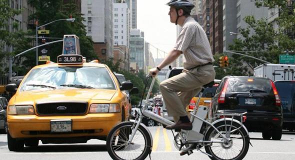 אופניים חשמליים בניו יורק, צילום: איי פי