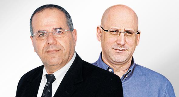 """מימין מנכ""""ל סלקום ניר שטרן ו שר התקשורת איוב קרא, צילום: אלכס קולומויסקי"""