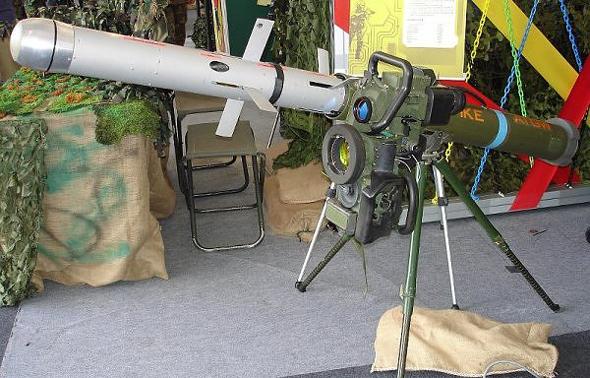 טיל ספייק נגד טנקים שפותח ברפאל, צילום: ויקיפדיה