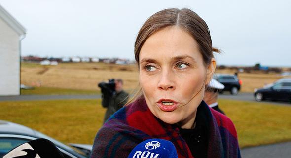 ראש ממשלת איסלנד, קתרין יקובסדוטיר, צילום: אי פי איי
