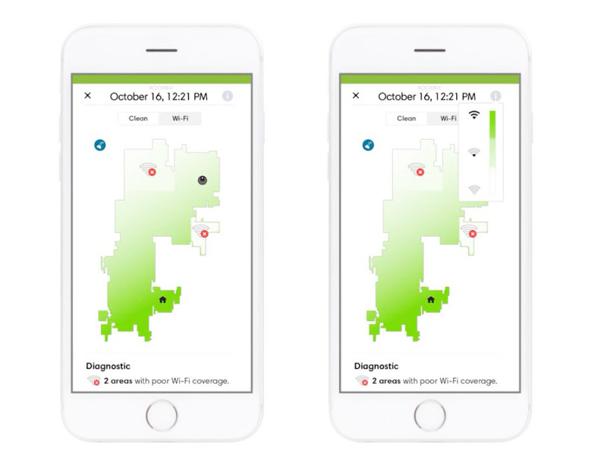 מפת ה-WiFi של iRobot