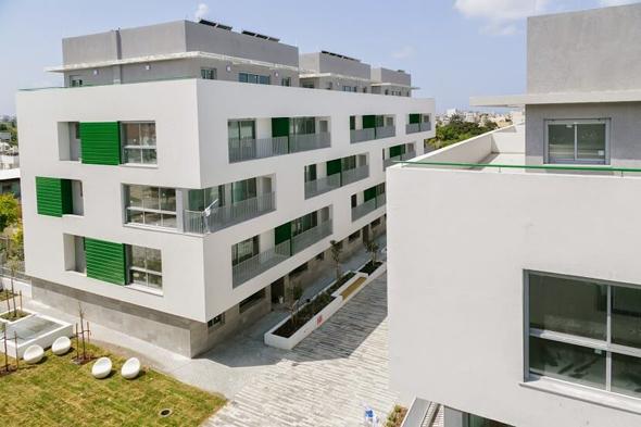 """הדמיית פרויקט גני שפירא, דיור בר השגה בת""""א, הדמיה: מילבאואר אדריכלים, צילום: שי אפשטיין"""