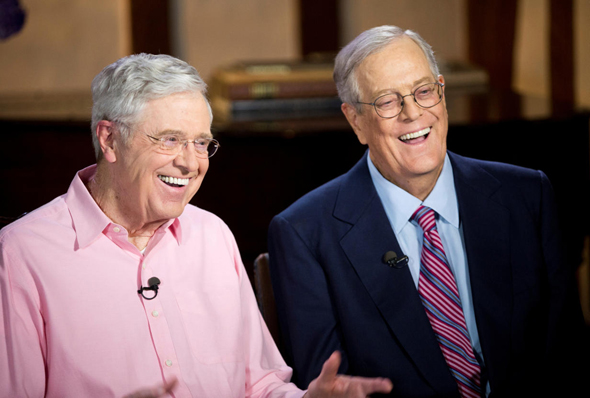 The Koch Brothers. Photo: MSNBC