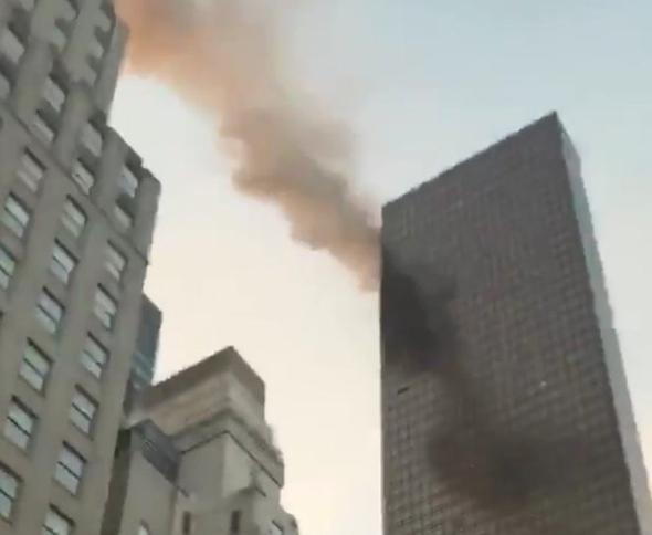 שריפה מגדל טראמפ ניו יורק 2, צילום: twitter