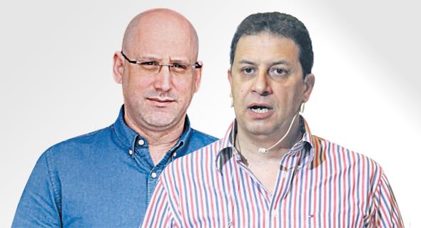 """מימין: מנכ""""ל yes רון אילון ומנכ""""ל סלקום ניר שטרן. yes מוכנה לספוג הפסדים כדי לשמור על כוחה בשוק"""