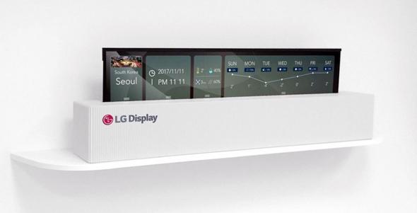 מחידושי LG: טלוויזיה שנשלפת כמו רול-אפ