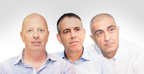 """מימין: מנכ""""ל שטראוס ישראל ציון בלס, מנכ""""ל תנובה אייל מליס ומנכ""""ל טרה טל רבן. תחום תחליפי החלב מספק רווחיות גולמית של 75%"""
