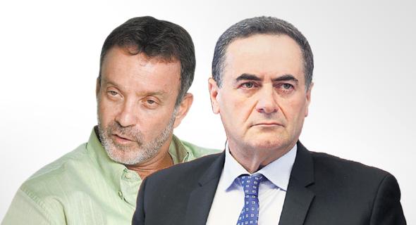 """מימין: שר התחבורה ישראל כץ ומנכ""""ל איסתא אחישי גל"""