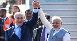 Israeli Prime Minister Netanyahu and Indian Prime Minister Modi. Photo: AFP