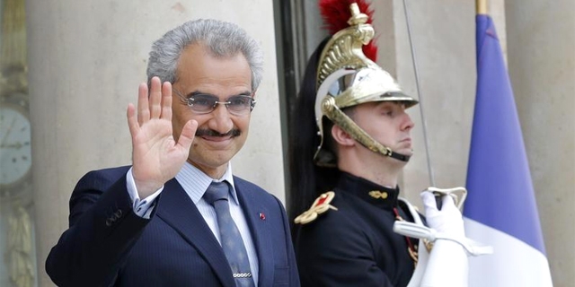 הנסיך הסעודי אל וואליד בן טלאל, בעת ביקור בצרפת, צילום: רויטרס