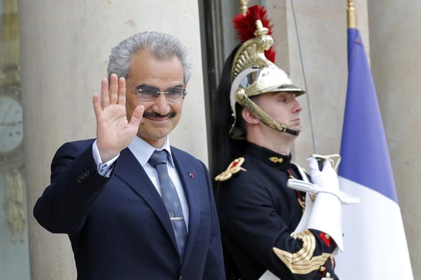 הנסיך הסעודי אל וואליד בן טלאל, בעת ביקור בצרפת