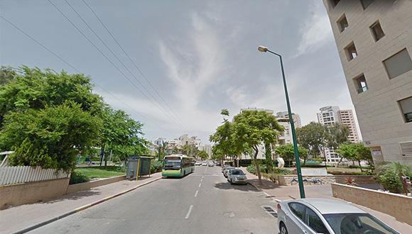 רחוב הבריגדה היהודית פתח תקוה , צילום: גוגל סטריט וויו