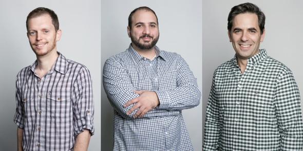 מייסדי החברה נתנאל דוידי, אסף קרס ואורי אלטר