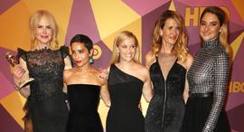 שחקניות קולנוע לבושות שמלות שחורות בגלובס הזהב, צילום: Getty