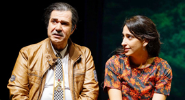פנאי אלמה דישי  ו איציק כהן על הבמה, צילום: רדי רובינשטיין