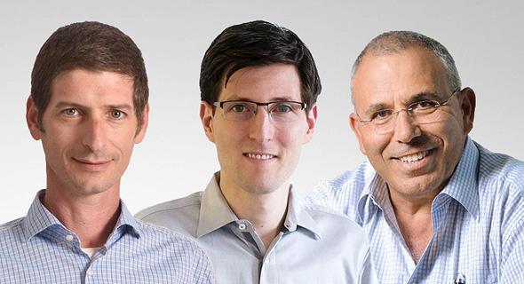 Left to right: Yuval Baharav, Nir Adler, Pinhas Buchris. Photo: SOMV
