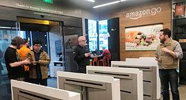 """חנות אמזון גו ללא קופות סיאטל ארה""""ב 1, צילום: רויטרס"""