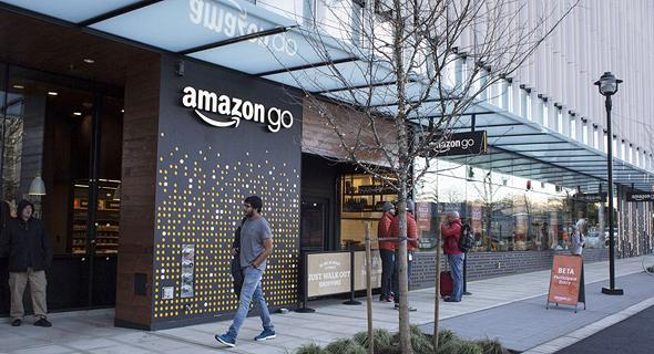 """חנות אמזון גו ללא קופות סיאטל ארה""""ב 2, צילום: רויטרס"""