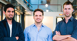 D-ID co-founders Sella Blondheim (right), Gil Perry, and Eliran Kuta. Photo: Inbar Levy