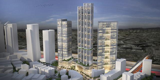 """אושר להפקדה: מגדל של 60 קומות ו-750 דירות להשכרה בר""""ג"""