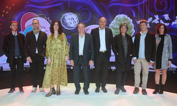 המתמודדים הסופיים על פרס ספיר על הבמה, צילום: שוקה כהן