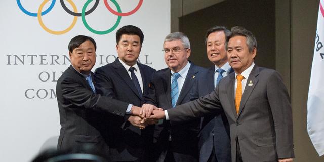 """הוועד האולימפי אישר את """"האיחוד"""" בין דרום לצפון קוריאה באולימפיאדת החורף"""