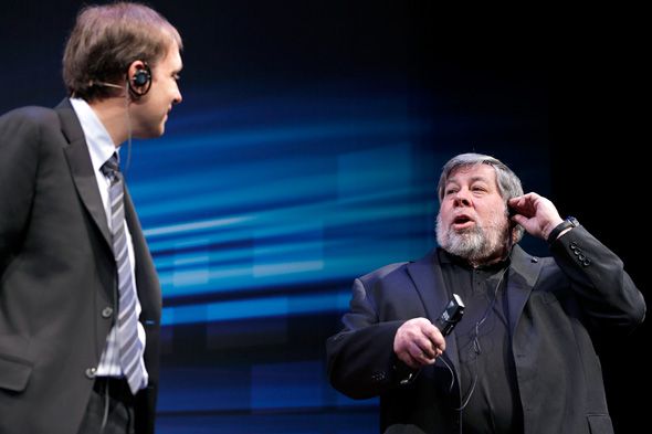 Left to right: David Flynn and Steve Wozniak. Photo: Bloomberg