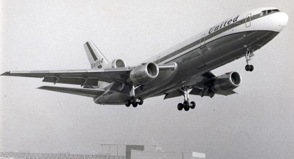 מהיר יותר מהמטוסים של ימינו. מטוס DC10 משנות השבעים