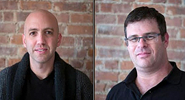 Two of CreditStacks founders, Elnor Rozenrot and Shahar Nechmad. Photo: Bernard Goldstein