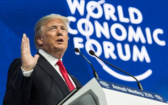 דונלד טראמפ נואם דאבוס, צילום: אי פי איי