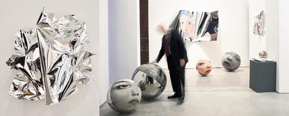 """התערוכה """"אוצרות חבויים"""" בתל אביב. """"בין ציור דו־ממדי לבין פיסול"""""""