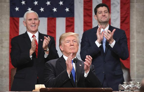 נאום מצב האומה דונלד טראמפ , צילום: איי אף פי