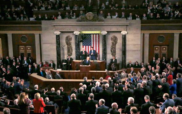 נאום מצב האומה דונלד טראמפ קהל, צילום: רויטרס