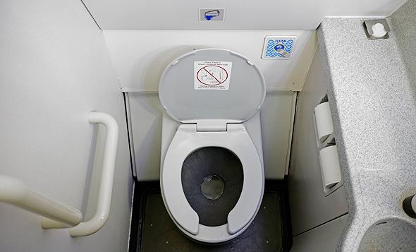 שירותים במטוס, צילום: שאטרסטוק