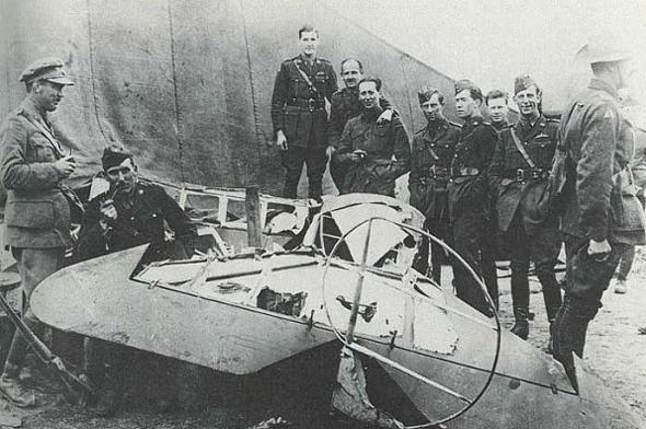 מטוסו של הברון האדום, שפורק למזכרות