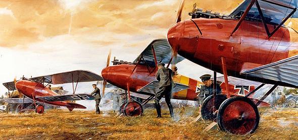 איור טייסת קרב גרמנית