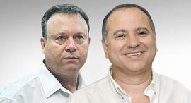 מימין קובי מיימון חיים צוף, צילום:אוראל כהן, ישראל הדרי