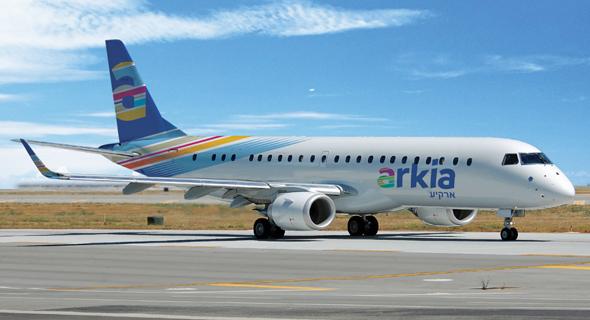 מטוס ארקיע לוגו חדש, צילום: ארקיע