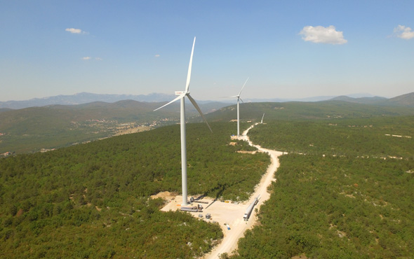 Enlight wind turbines in Croatia. Photo: Enlight