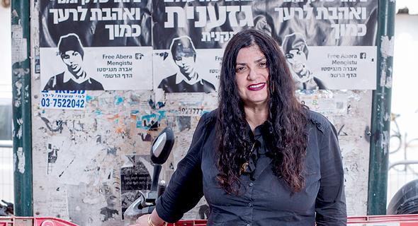 """קשת. """"הגירוש הוא חורבן הבית השלישי של דרום תל אביב"""", צילום: יובל חן"""