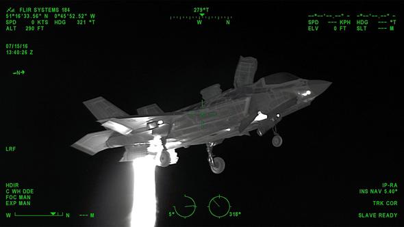 מטוס F35 במצלמה תרמית