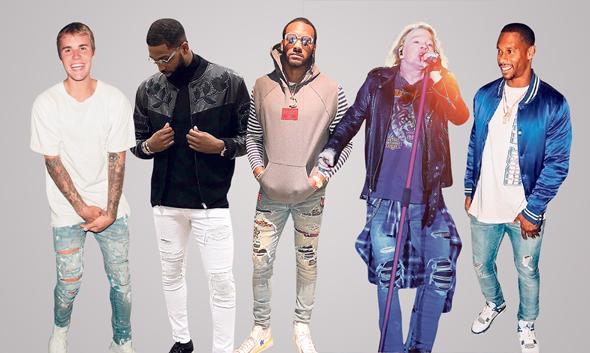 ג'ינסים קרועים בעיצוב מייק אמירי