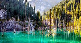 פוטו מקומות יוצאי דופן אגם קיינדי קזחסטן, צילום: שאטרסטוק