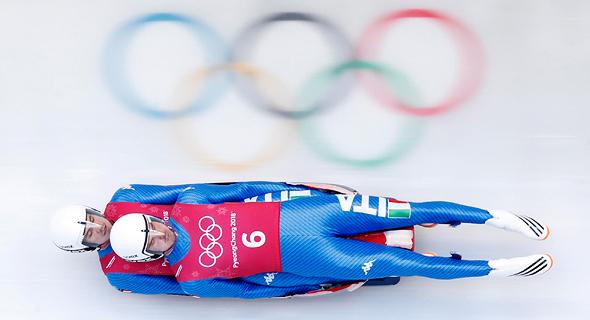 פיוגצ'נג אולימפיאדת החורף קוריאה אולימפיאדה 2018 סמל אולימפי, צילום: רויטרס