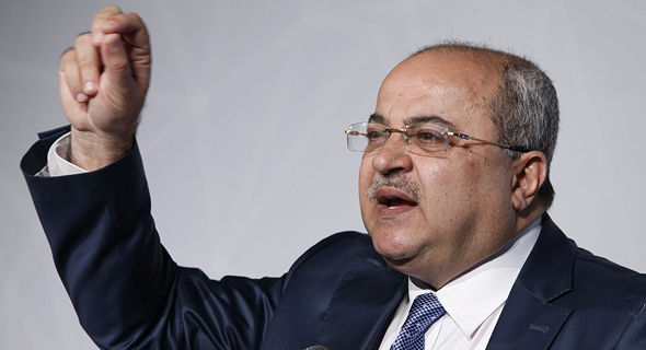 Ahmad Tibi speaking at Calcalist's Arab Business conference. Photo: Amit Shaal
